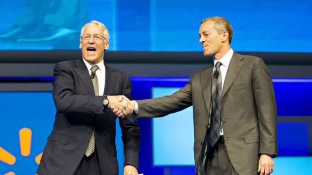 Robson Walton with Director of Walmart Greg Penner