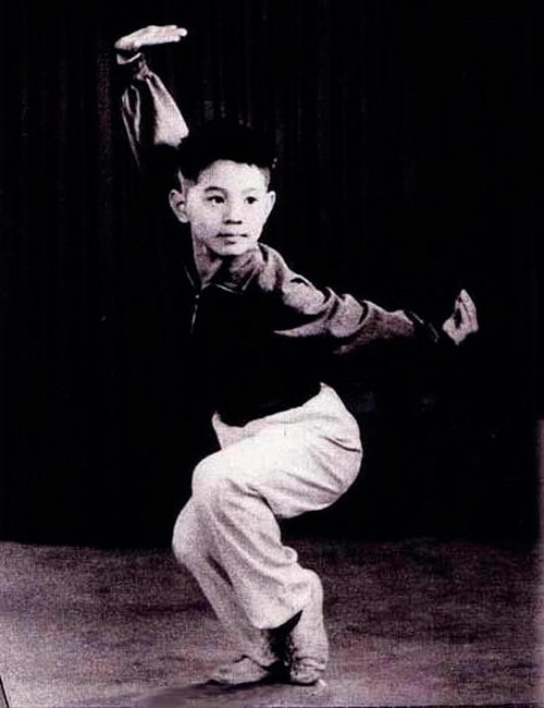 Jet Li Practicing Kung Fu in His Childhood