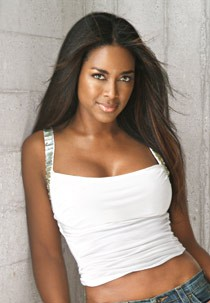 Young Kenya Moore in Her Modeling Days