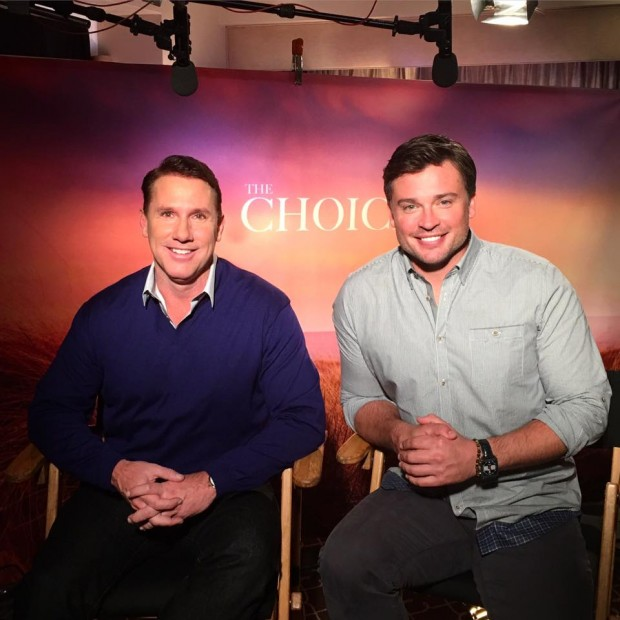 Nicholas Charles Sparks With Tom Welling