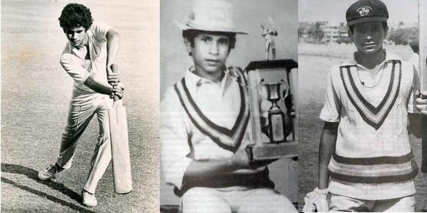 Sachin Tendulkar in His Young Cricket Days