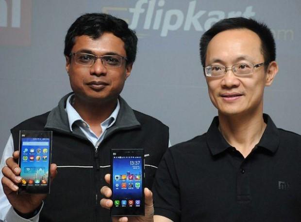 Sachin Bansal with Xiaomi Corp President Bin Lin