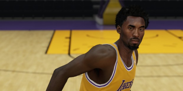 Young Kobe in His Early Career with Lakers
