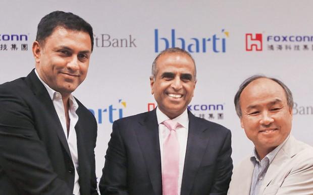 Sunil Mittal with SoftBank Corp CEO Masayoshi Son