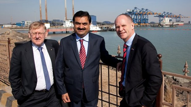 Gautam Adani with Campbell and Martin