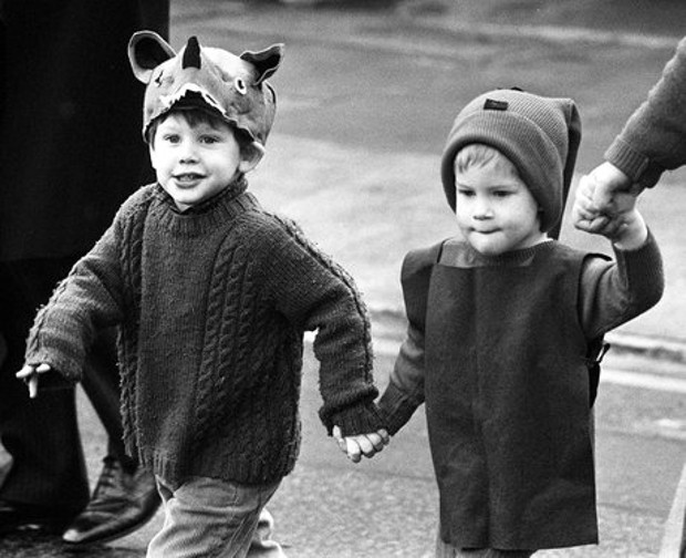 Prince Harry and Prince William in childhood