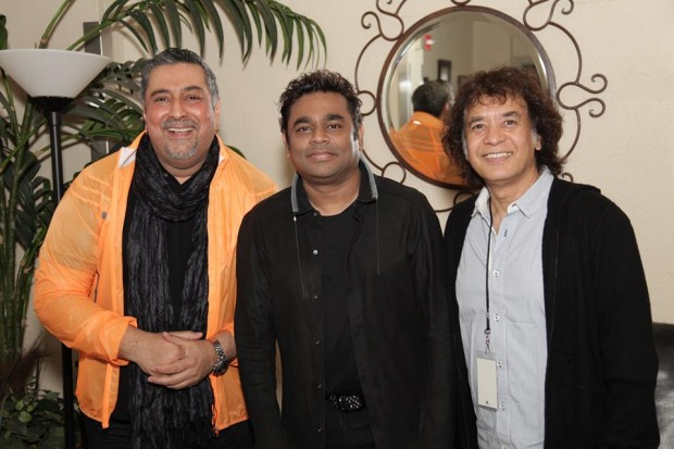 AR Rahman with Zakir Hussain after San Jose show