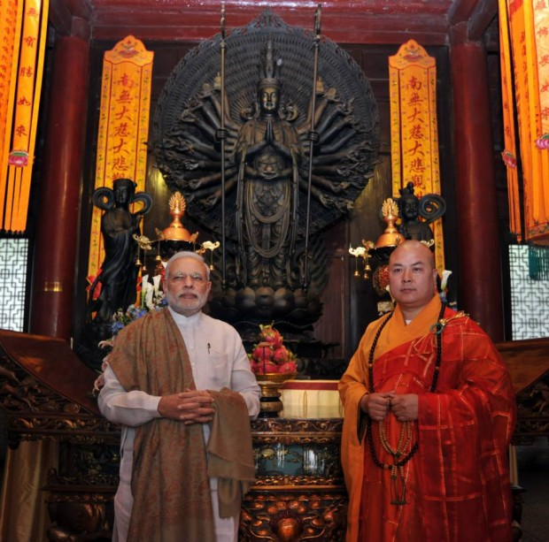Modi at Daxingshan Temple
