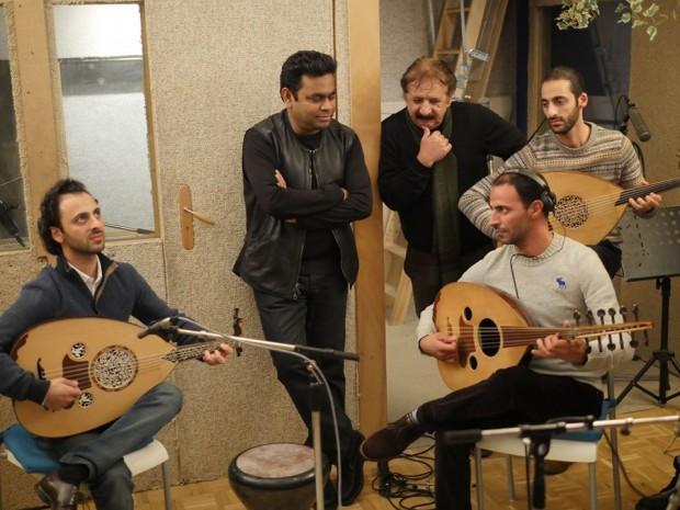 AR Rahman at Recording in Paris