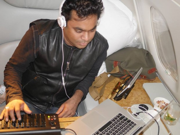 Rahman Working in Flight