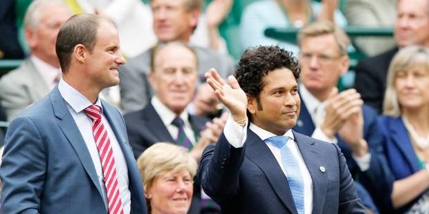 Sachin at Wimbledon Match