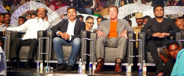 AR Rahman with Arnold at a Music Event in India