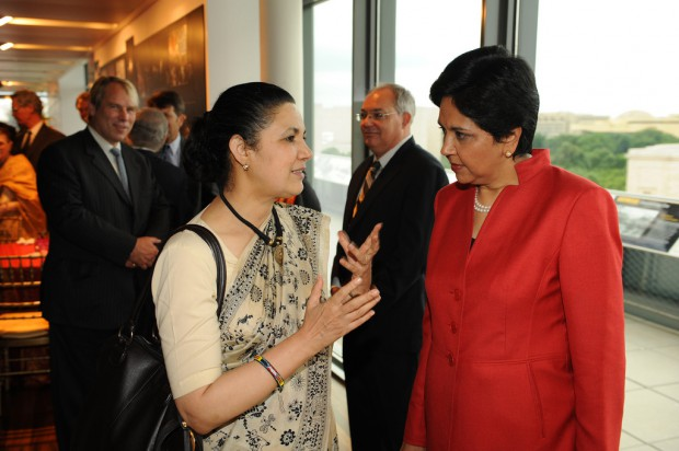 Indra Nooyi and Meera Shankar at the USIBC Annual Dinner