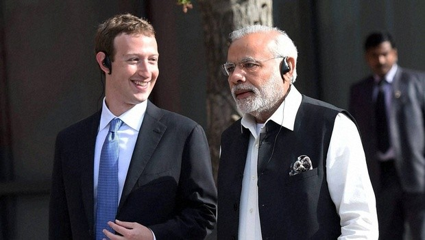 Modi with Facebook Founder Mark Zuckerberg at Facebook Head Quarters