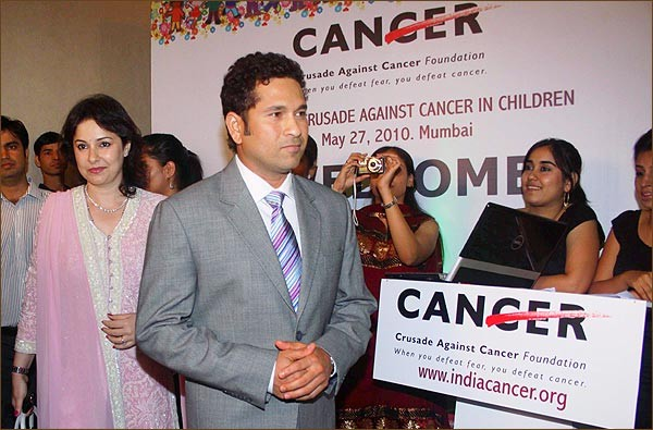 Sachin at a Cancer Charity Event