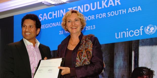Sachin as UNICEF Ambassador