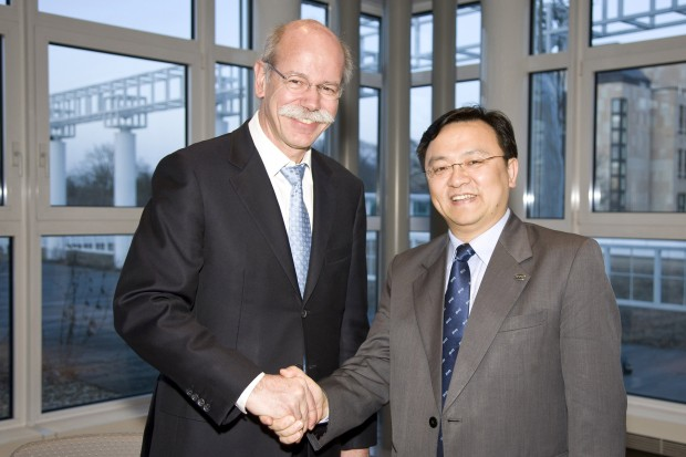 Wang Chuanfu  with Dieter Zetsche