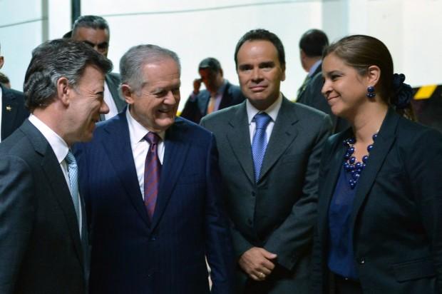 President Juan Manuel Santos, Businessman Luis Carlos Sarmiento Angulo
