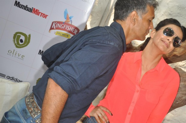 Milind Soman and Gul Panag