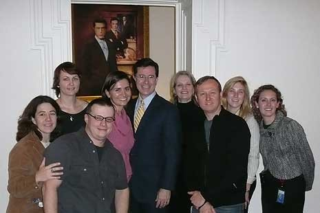 Stephen Colbert with  NPG staff