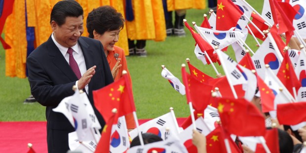 Chinas President Xi Jinping Visits South Korea