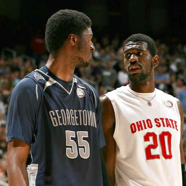 Roy Hibbert and Greg Oden in the 2007 NCAA
