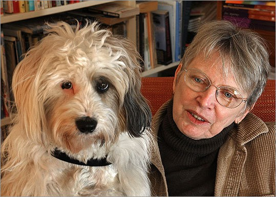 Lois Lowry With His Dog