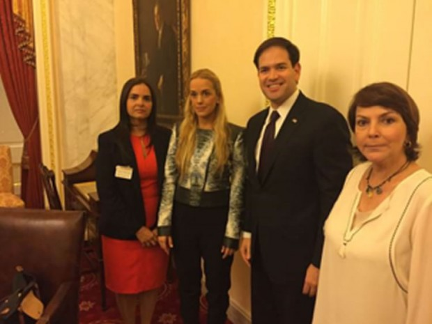 Marco Rubio meets with wives of Venezuelan political prisoners