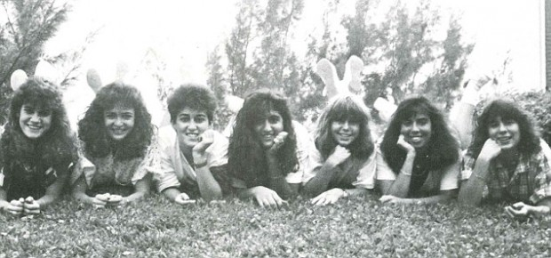 Sheryl Sandberg (second left) and her high school best friends
