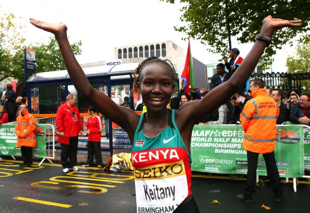 Mary Jepkosgei Keitany During IAAF