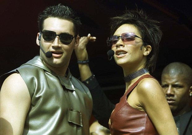 Victoria Beckham Performing with With Dane Bowers