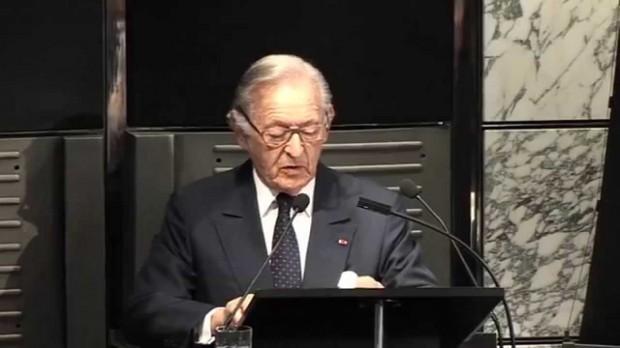 Othman Benjelloun Speaking at A press Event
