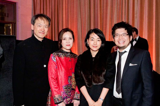 Lawrence Lui, Sherry Chen, Jamie and Steve Chen