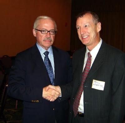 Paul Wheeler meets Libertarian Presidential candidate Bob Barr