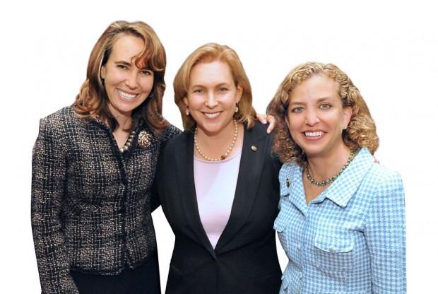 Gabrielle Giffords, Kristen Gillibrand with Debbie wasserman schultz