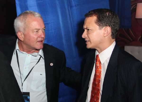 Congressman Mark Foley works the crowd at the Republican National Conventions Gay Party