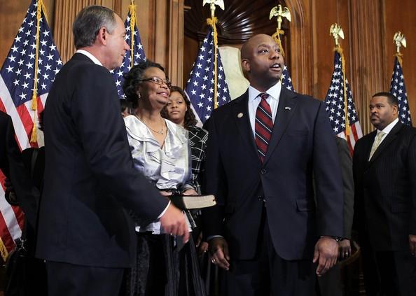 John Boehner with Tim Scott