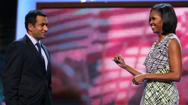 Kal Penn meets With lady Michelle Obama