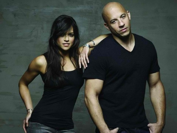 Michelle Rodriguez with Vin Diesel