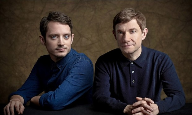 Elijah Wood with Martin Freeman