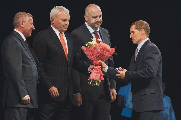 Viktor Rashnikov Attending Award Ceremony