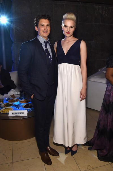 Miles Teller with Veronica Roth