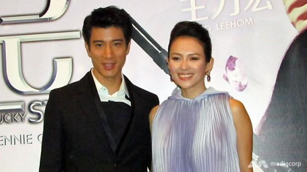 Wang Lee Hom (left) with Zhang Ziyi