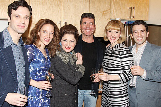 Simon Cowell meets the cast of Beautiful – The Carole King Musical