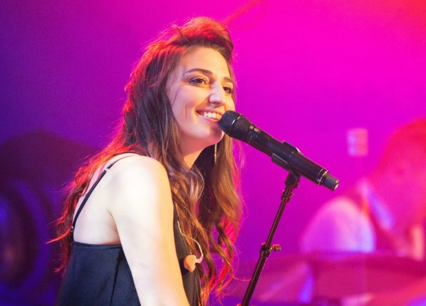 Sara Bareilles Singing in a Concert at Los Angeles
