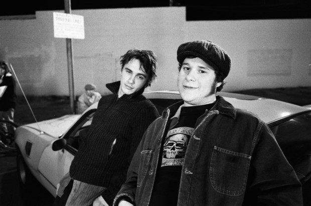 Young Seth Rogen with James Franco