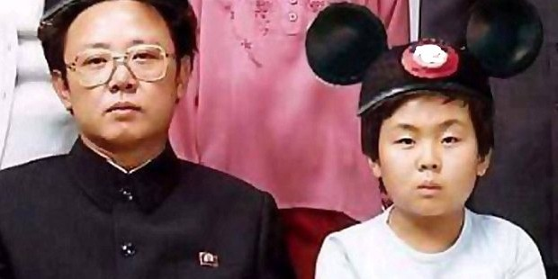 Kim Jong-un with his father Kim Jong II