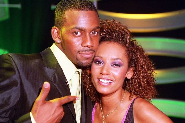 Richard Blackwood with Melanie Brown