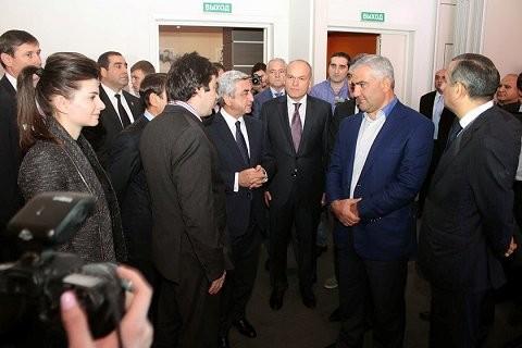 Samvel Karapetyan with Armenia President
