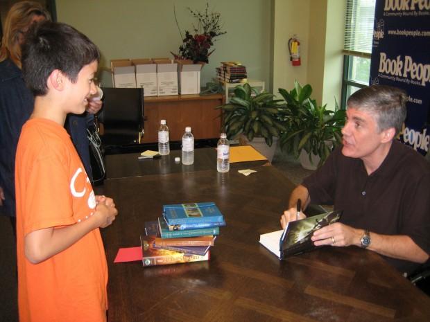 Rick Riordan at The Red Pyramid book signing at BookPeople